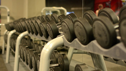 Dumbbells in fitness or gym Footage