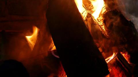 Bonfire Flame Close-Up - 05 Footage