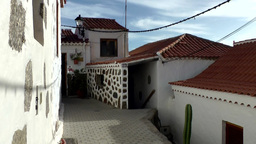 Spain Gran Canary Fataga 024 inner courtyard in upper village Footage