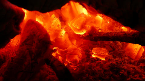 Bonfire Flame Close-Up - 08 Footage