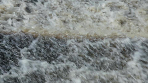 Waterfall raging stream Footage