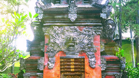 Barong Lion Guard, Balinese mythological character. Indonesia Footage