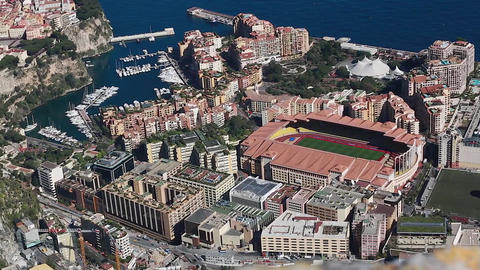 Aerial View Of The Different Districts Of Monaco Filmmaterial