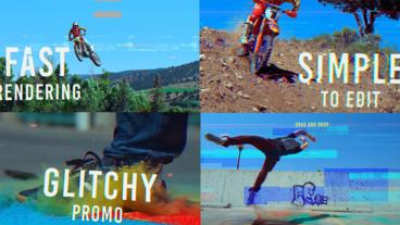 Glitch Promo Slideshow After Effectsテンプレート