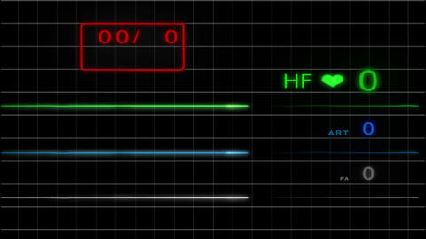 E.C.G Monitor - Without Pulse - with grid - 4K Animation
