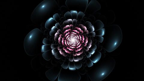 Particles of abstract fractal forms on the subject of nuclear physics science an Animation