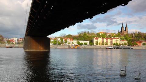 Old iron railway bridge in Prague,Czech Republic Image