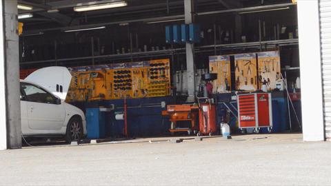 Garage Mechanic Workshop Repair Cars Footage