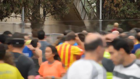 Half-Marathon Runnes Motivating Filmmaterial