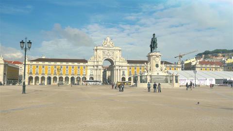 Praca do Comercio – Lisbon, Portugal in 4K Footage