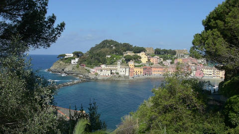 A view of Sestri Levante, Italy Footage