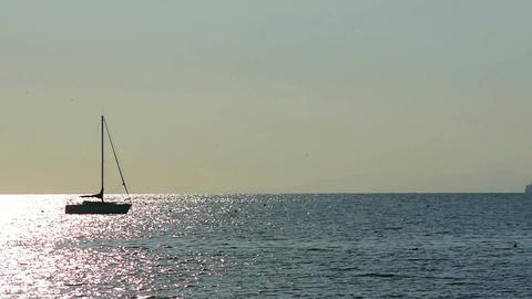 A sailboat on the sea Footage