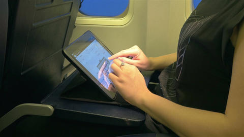 Video of woman using digital tablet in 4K ビデオ