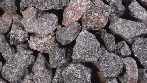 Crushed stone close-up Footage