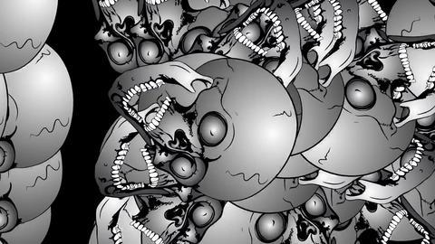 Multiplication of the skulls CG動画素材