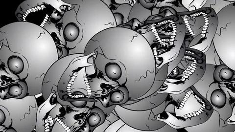Very many skulls Animation