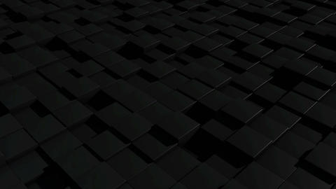 Black cubic surface in motion. Seamless loop Animation