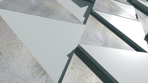 Corporate background consisting of realistic triangles. Seamless loop Animation