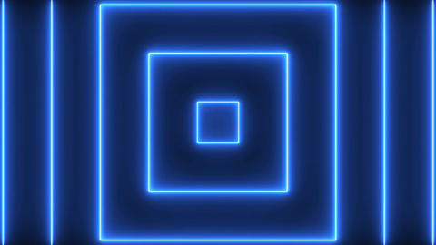 Abstract background with neon squares. Seamless loop Animation