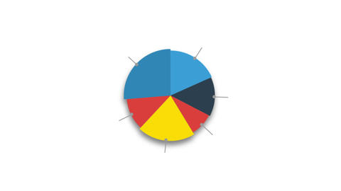 Circle diagram for presentation on white background Animation