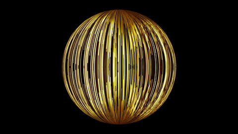 Abstract background with a sphere formed from the lines. Seamless loop Animation