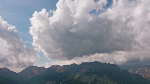 The cloud above the mountains 영상물
