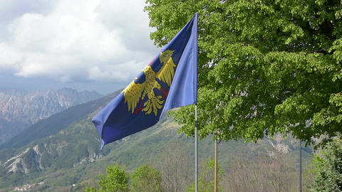 The Friuli-Venezia Giulia flag Archivo