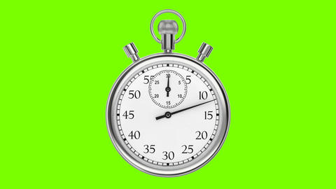 Animation stopwatch on a green background Animation