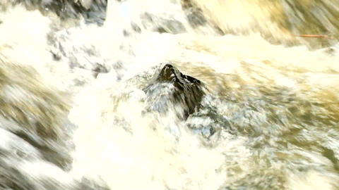 Slow motion. Rapid stream with huge of crystal water.... 動画素材, ムービー映像素材