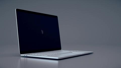 Modern laptop animation. Highly detailed aluminum laptop animation CG動画素材