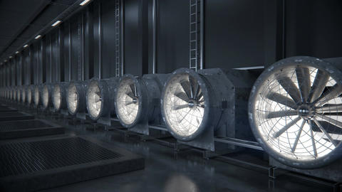 Cooling system for data center CG動画素材