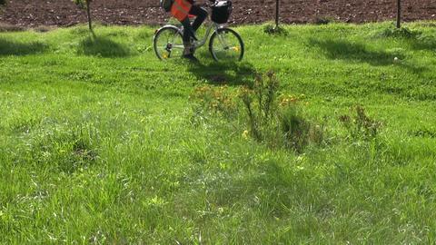 People on bicycles Footage