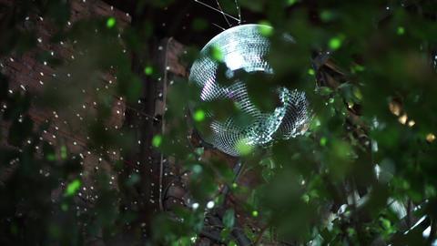 Shiny disco ball turning Footage