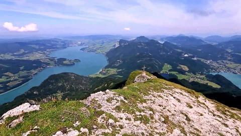 Austria. The view from the mountain Schafberg Filmmaterial