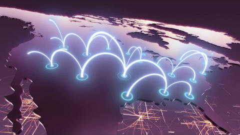 United States Business Network - Purple Animation