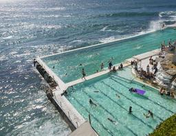 Bondi Beach Bondi Icebergs swimming club Sydney Australia Copyspace Photo