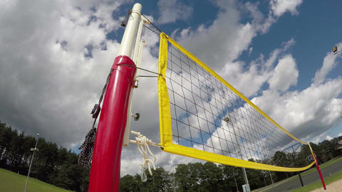 Volleyball net and basketball hoop, timelapse 4K Footage
