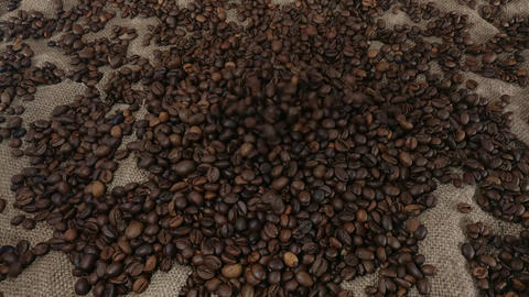 Dropping coffee beans Footage