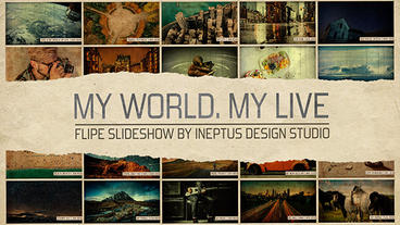 My world.My life - flip slideshow Apple Motion Template