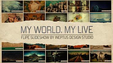 My world.My life - flip slideshow Apple Motion-Vorlage