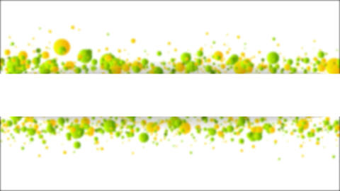 Green orange defocused particles video animation Animation