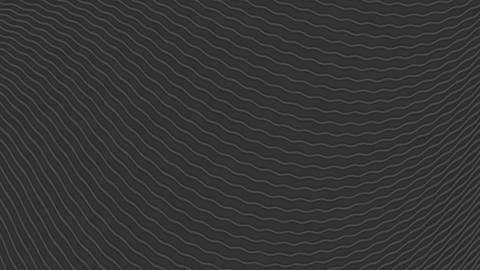 Black waves abstract video animation