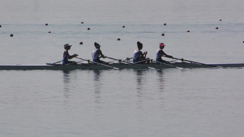 Rowing Championship Quad Scull Woman Footage