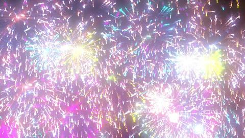 Random fireworks D Animation