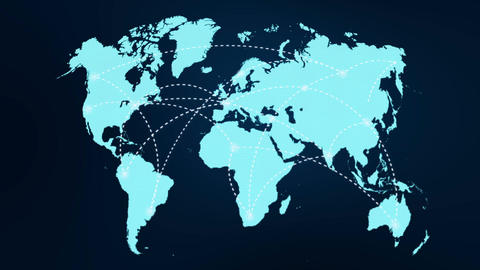 A growing network across the world Animation