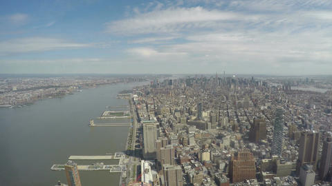 New York panoramic view from One World Trade Center Observatory Footage