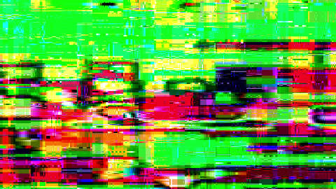 Colored Noise Digital Grunge Glitch Flickering Video Damage Animation