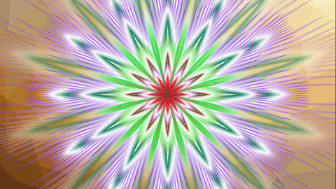Animated fractal flower shape, multicolored mandala star with variable colors, s Image