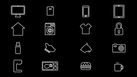 Internet Of Things and Smart Home Icons. 4K Animation
