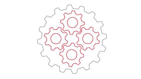 Gears inside gear loopable Animation